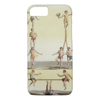 Mexicans Performing Gymnastics (colour litho) iPhone 7 Case