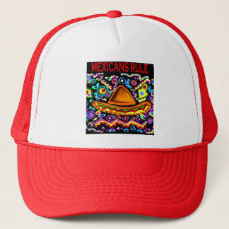 MEXICANS RULE TRUCKER HAT