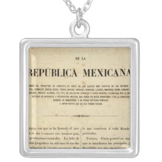 Mexico 9 silver plated necklace