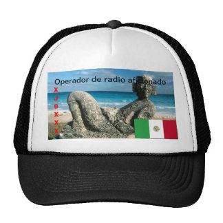México Amateur Radio Operador Cap Trucker Hat