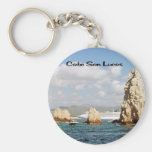Mexico and Central America Basic Round Button Key Ring