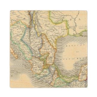 Mexico and Guatamala Wood Coaster