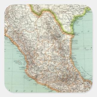 Mexico and Guatemala 3 Square Sticker