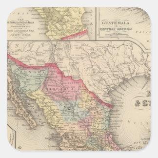 Mexico and Guatemala 4 Square Sticker
