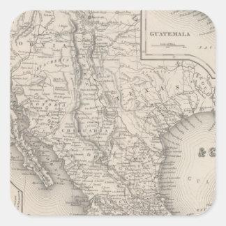 Mexico and Guatemala Square Sticker