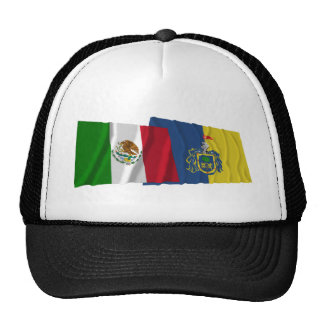 Mexico and Jalisco Waving Flags Cap
