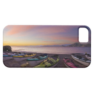 Mexico, Baja, Sea of Cortez. Sea kayaks and iPhone 5 Covers