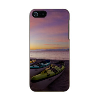 Mexico, Baja, Sea of Cortez. Sea kayaks and Incipio Feather® Shine iPhone 5 Case