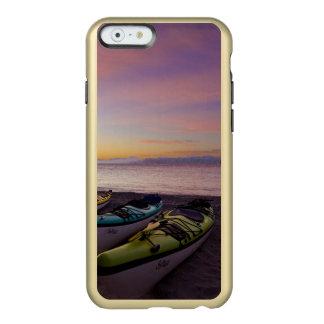 Mexico, Baja, Sea of Cortez. Sea kayaks and Incipio Feather® Shine iPhone 6 Case