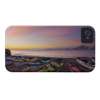 Mexico, Baja, Sea of Cortez. Sea kayaks and iPhone 4 Cover