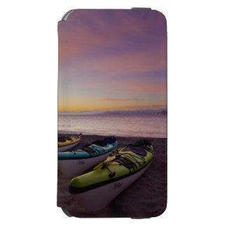 Mexico, Baja, Sea of Cortez. Sea kayaks and Incipio Watson™ iPhone 6 Wallet Case
