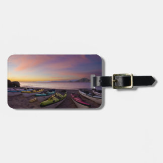 Mexico, Baja, Sea of Cortez. Sea kayaks and Luggage Tag