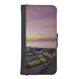 Mexico, Baja, Sea of Cortez. Sea kayaks and Phone Wallet