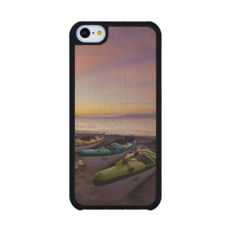 Mexico, Baja, Sea of Cortez. Sea kayaks and Carved® Maple iPhone 5C Case