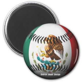 Mexico Baseball 6 Cm Round Magnet