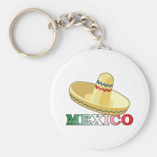 Mexico Basic Round Button Key Ring