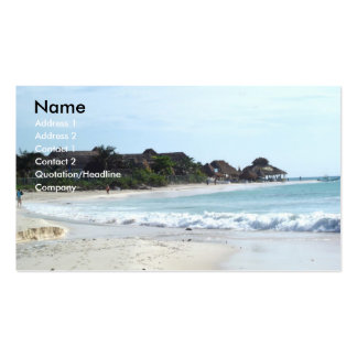 Mexico beach pack of standard business cards