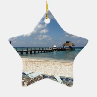 Mexico Beach Scene Christmas Ornament