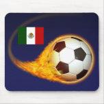 Mexico Blazing Soccer Mousepad