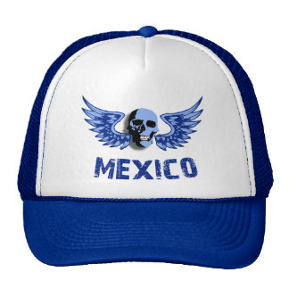 Mexico Blue Winged Skull Cap