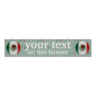 Mexico Bubble Flag Banner Poster