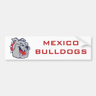 MEXICO BULLDOGS BUMPER STICKER