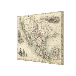 Mexico, California and Texas Canvas Print
