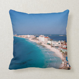 Mexico, Cancun, Aerial View Of Hotels Cushion