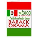 MÉXICO Celebrates US President Obama Victory Greeting Cards