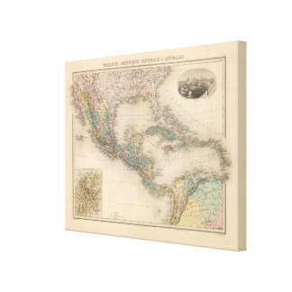 Mexico, Central America and Caribbean Canvas Print