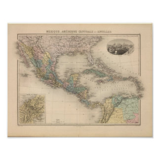 Mexico, Central America and Caribbean Poster