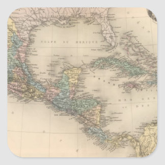 Mexico, Central America and Caribbean Square Sticker