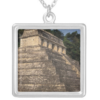 Mexico, Chiapas province, Palenque. Temple of 2 Silver Plated Necklace