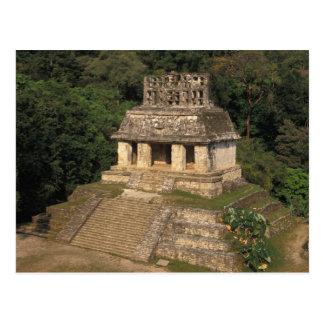Mexico, Chiapas province,  Palenque, Temple of Postcard