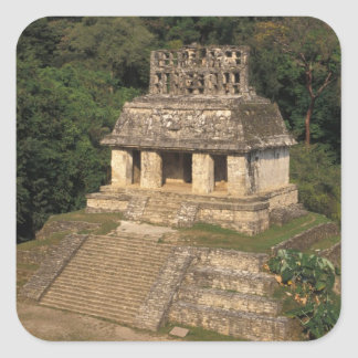 Mexico, Chiapas province,  Palenque, Temple of Square Sticker