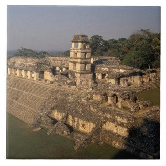 Mexico, Chiapas province,  Palenque, The Palace Tile