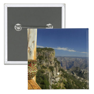 Mexico, Chihuahua, Copper Canyon. View from 15 Cm Square Badge
