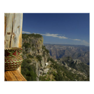 Mexico, Chihuahua, Copper Canyon. View from Poster