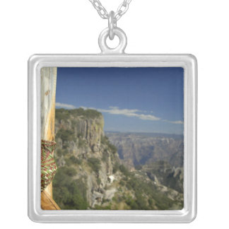 Mexico, Chihuahua, Copper Canyon. View from Silver Plated Necklace
