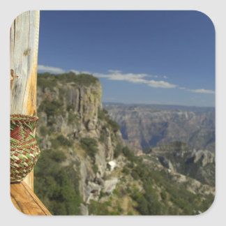 Mexico, Chihuahua, Copper Canyon. View from Square Sticker
