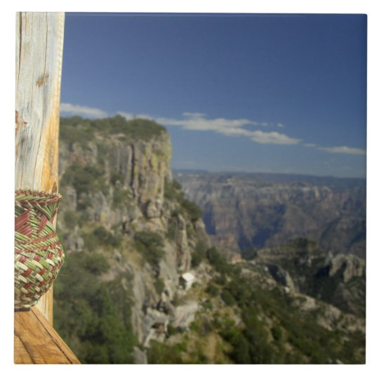 Mexico, Chihuahua, Copper Canyon. View from Tile