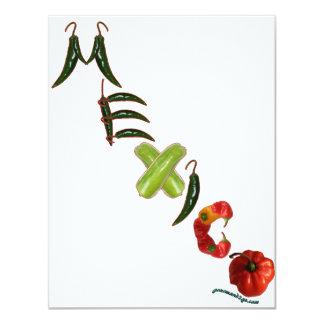 Mexico Chili Peppers 11 Cm X 14 Cm Invitation Card