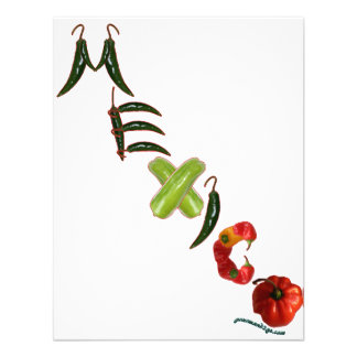 Mexico Chili Peppers Personalized Invitations