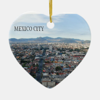 Mexico City, aerial view looking north Christmas Ornament