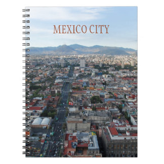 Mexico City, aerial view looking north Spiral Notebook