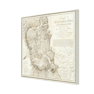 Mexico city map stretched canvas print