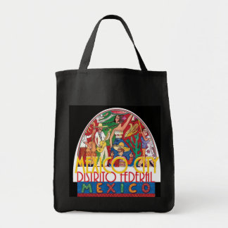 MEXICO CITY Mexico Grocery Tote Bag