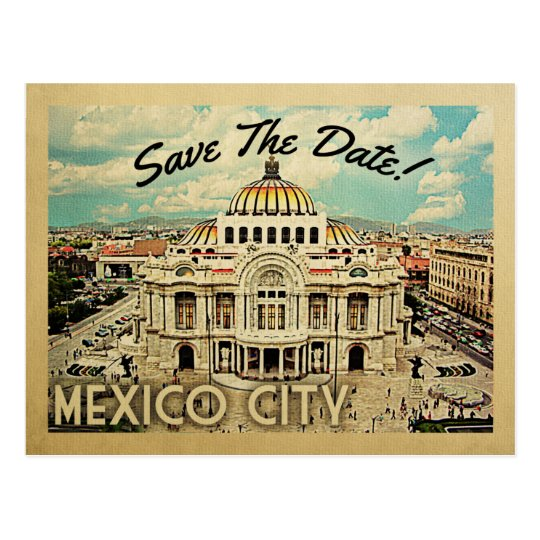 Mexico City Save The Date Palacio de Bellas