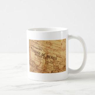 MEXICO CITY Vintage Map Coffee Mug