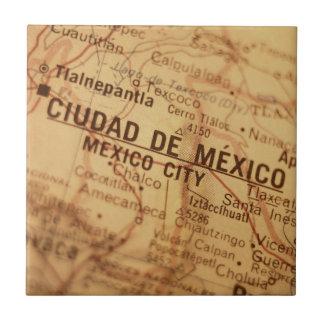 MEXICO CITY Vintage Map Tile
